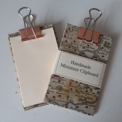 Miniature clipboard with Yorkshire map design