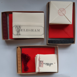 Different types of letterset with sealing wax