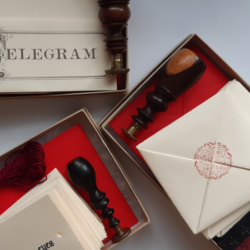 A close up of different types of letterset with antique wooden seals